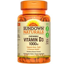 Sundown Naturals Vitamin D3 1000IU Chewable Tablets, 120 Count - $12.19