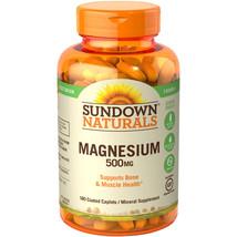 Sundown Naturals Magnesium 500mg, Mineral Supplement Caplets, 180 count - $9.49