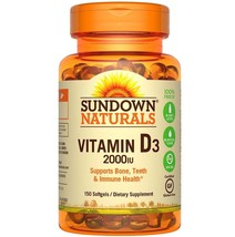 Sundown Naturals Vitamin D3 2000 IU Softgels, 150 count - $13.09