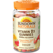 Sundown Naturals Vitamin D3 2000 IU Gummies,  9... - $8.59
