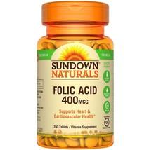Sundown Naturals Folic Acid 400 mcg, Tablets, 350 count - $7.69