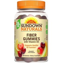 Sundown Naturals Fiber Gummie With Vitamin D3 Assorted Fruit Flavor, 50 ... - $16.82