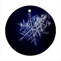 Snowflake Crystal Round Ornament w/ Ribbon Hanger - $7.38