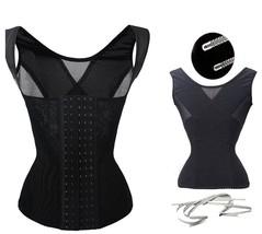 Plus Sz Steel Boned Tummy Fat Slimming Waist Trainer Vest Top Corset Wei... - $10.99+