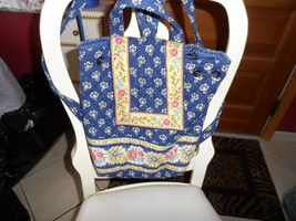Vera Bradley backpack in retired Navy and yellow floral pattern - $18.50