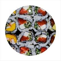 Sushi Round Ornament w/ Ribbon Hanger - $7.38