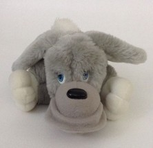 Vintage 1991 Lil' Pooches REGGIE Gray White Plush Stuffed Puppy Dog 90's... - $13.32