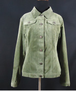 For Joseph Suede Jacket Dark Moss Green Size Medium Work, Office, Casual... - $7.95