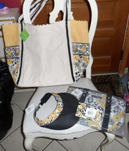 Vera Bradley beach lot of 4 in Go Wild, 2 totes, hat , quick swipe NWT - $93.70 CAD