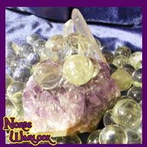 3 Citrine Gemstone Sphere Crystal Balls for Joy Wealth & Direction! Meta... - $19.99