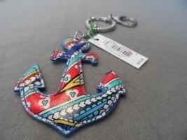 Vera Bradley Marina Paisley Seashore Anchor key... - $15.00