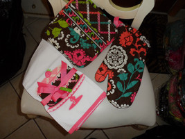 Vera Bradley potholder, oven mit set and tea towel in Lola NWT - $33.00