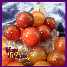 3 Carnelian Sphere Crystal Balls for Motivation Courage Confidence! Meta... - $20.00