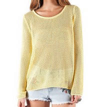Element UTOPIA Womens Open Knit Pullover Sweater Medium Canary Yellow NEW  - $59.50