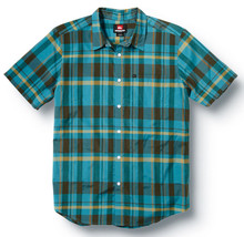 Quiksilver BACK PAT Boys Youth Short Sleeve Button Up Medium 12/14 Bay B... - $48.00