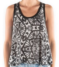 Element ETHEREAL Womens Knit Racerback Tank Top Medium Black White NEW - $34.50