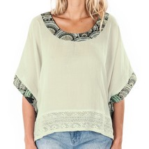 Element ANYA Womens Wide Sleeve Oversized Top Medium Natural NEW  - $44.50
