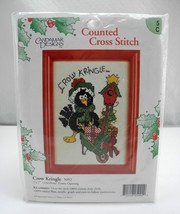 "Candamar Designs ""Crow Kringle"" Counted Cross Stitch Kit #5092 - 5"" x 7"" - $9.45"