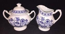 Meakin J & G Classic White Blue Onion Nordic Creamer And Sugar Tea Coffee - $23.38