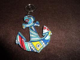 Vera Bradley Marina Paisley Seashore Anchor key... - $13.50