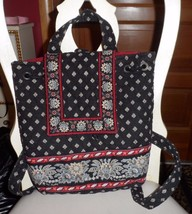 Vera Bradley old style backpack in retired Classic Black pattern - $26.50