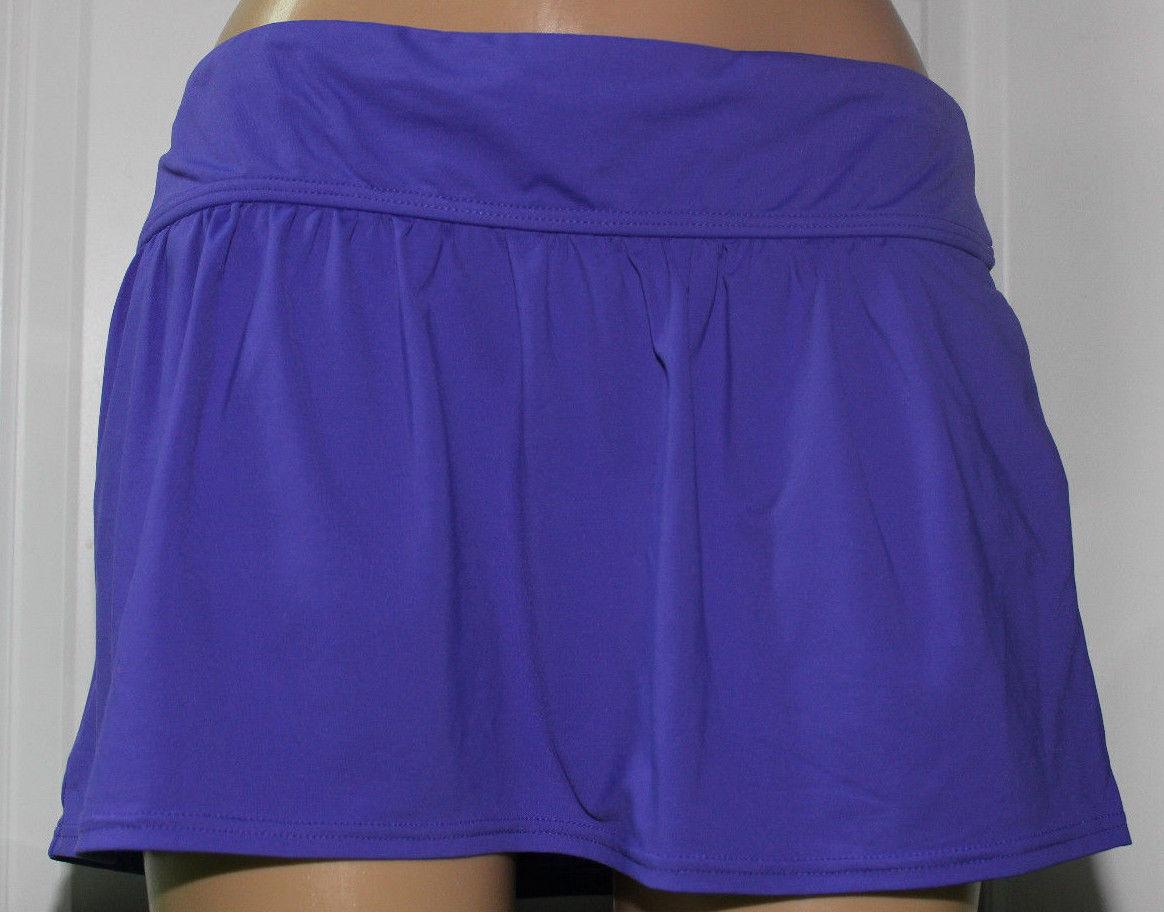 NEW Anne Cole 16MC567 DKPU Purple Blast Pocket Cover Up Skirt XS XSmall - $12.63