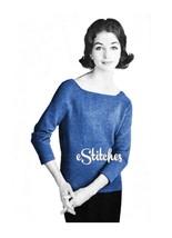 1950s Simple Tunic Sweater - Machine Knit Pattern (PDF 0159) - $3.75