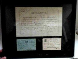 LOT antique 1914 NAVY DISCHARGE,1917 REGISTRATION wilmington de FREDERIC... - $67.95