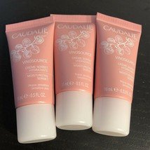 Lot Of 3 Caudalie Vinosource Moisturizing Sorbet .33 oz (1 oz Total)