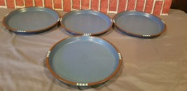 "Dansk Japan MESA SKY BLUE 10 3/8"" Dinner Plates Set of 4 used  - $96.53"
