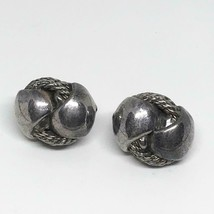 Sterling Silver Clip On Earrings Vtg - $49.49