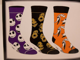 The Nightmare before Christmas Crew Socks 3 Pair Pack Men's Shoe Size 8 ... - $11.49