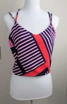 Express Women's Multi-Colored Sleeveless size Large Lined Strap Crop Top  - $18.80