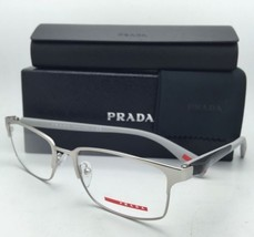New PRADA Sport Eyeglasses VPS 50F TIH-1O1 54-18 Silver+Grey+Carbon Fibe... - $299.95