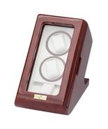 Diplomat Windsor Burl Wood Double Watch Winder w/ Storage Case 31-564 - $247.49
