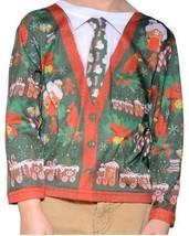 Faux Real Feo Suéter de Navidad Infantil Santa Vacaciones Camisa Manga L... - $26.35
