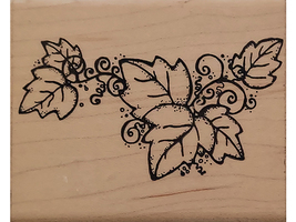 D.O.T.S. Great Vine Wood Mounted Rubber Stamp #N-188