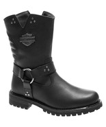 Women's Harley-Davidson Barford 8.25-Inch Black Leather Motorcycle Boots... - £91.19 GBP