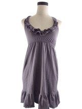 Womens S Blu Blue Heaven Purple Ruffle Halter D... - $18.00
