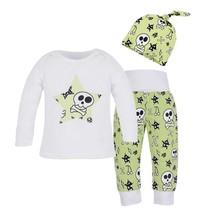 3pcs Baby Infant Skull Print Clothes Long Sleeve T shirt+Long Pants+Hat ... - $15.00