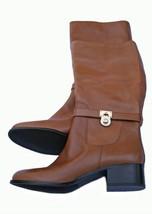 "Michael Kors MK ""Hamilton"" Tall Brown Leather R... - $119.95"