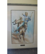 """ORIGINAL JACK CANNON WATERCOLOR, """" RODEO """" FROM 1971, FRAMED & MATTED - $2,227.50"""