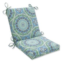 Pillow Perfect Outdoor | Indoor Delancey Lagoon Squared Corners Chair Cu... - £32.41 GBP