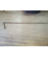 Antique Steel Cattle Bull Cow Nose Leader Device On 4.5' Pole Farm Display - $44.55