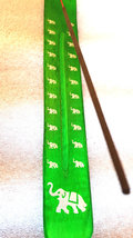 elephant sign screenprinted green long insence holder ideal for sticks or cones  image 2