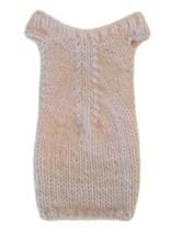 Barbie Doll Clothes Knit Light Pink Off Shoulder Sweater Dress Handmade - $5.99