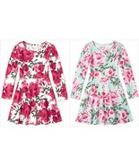 NWT The Childrens Place Floral Girls Long Sleeve Skater Dress - $10.99