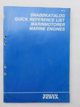 1987 Volvo Penta Publ. No. 7746000-4 Quick Reference List Marinmotorer M... - $2.76