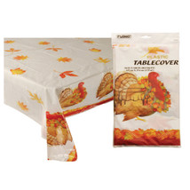 54 Inchx108 Inch Thanksgiving Design Table Cover/Case of 36 - £68.13 GBP