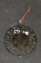 Judaica Kabbalah Round Wall Hang Hebrew Silver Gold Plated Psalms Thee Jerusalem image 3